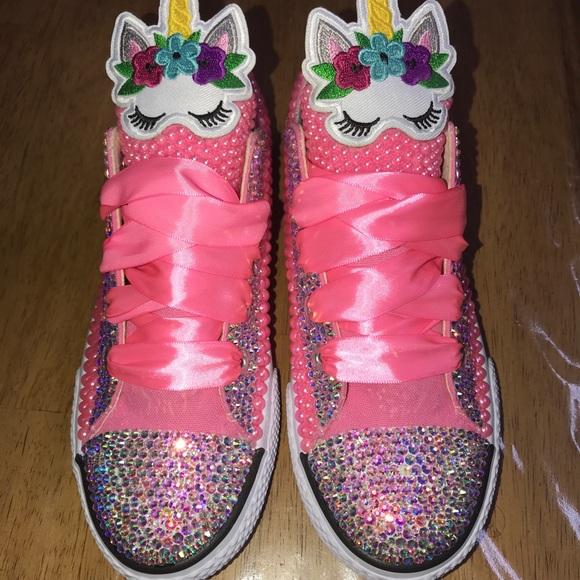 d537692804 Unicorn bling girls pink shoe size 2